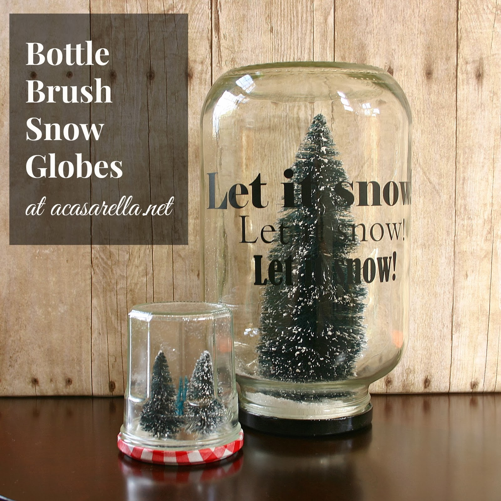 Bottle Brush Snow Globe A Casarella