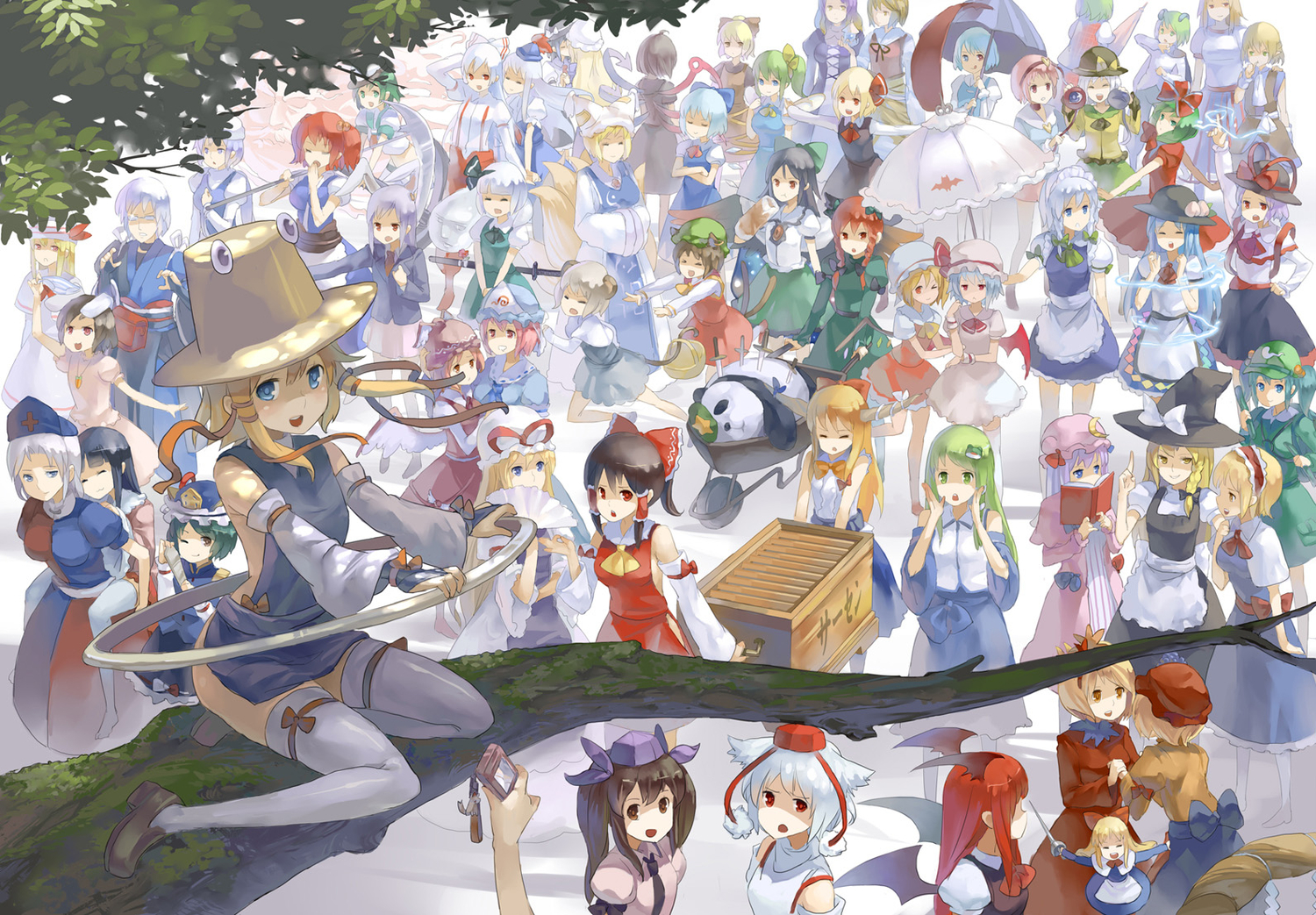 All Touhou Chars Named by Adantxo-kun on DeviantArt