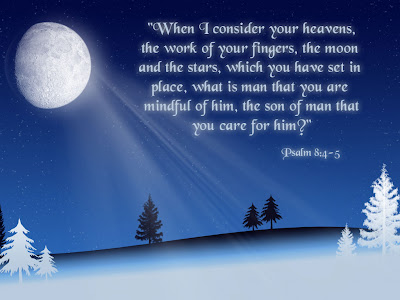 Psalm 8:4-5 Free Christian Wallpaper