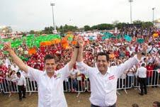 Enrique Peña Nieto, candidato presidencial del PRI, dió un total respaldo a Je´su Alí de la Torre.
