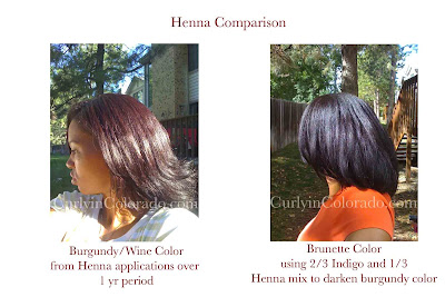 Burgundy Hair Rinse On Natural Black Hair