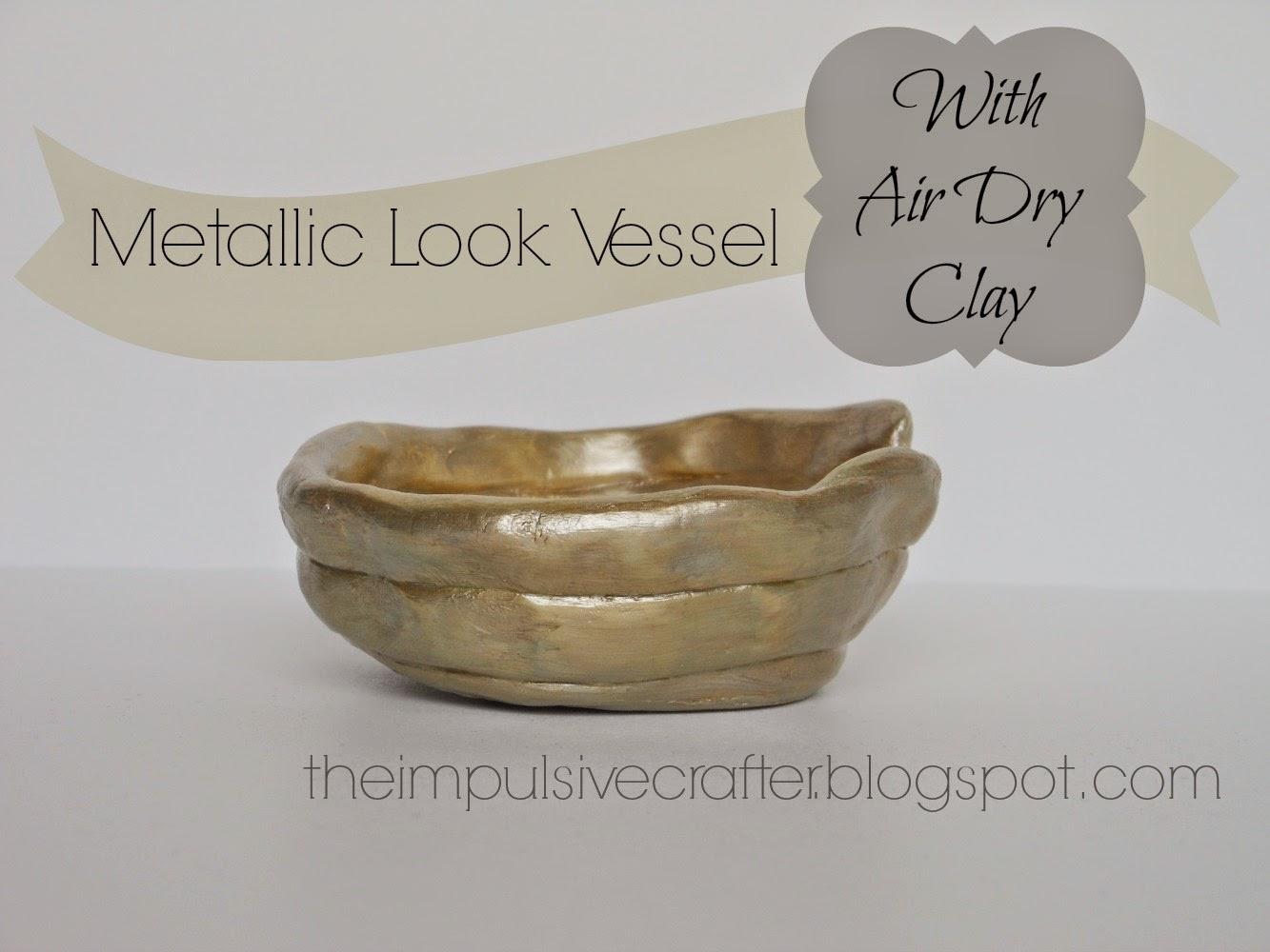 metallic look clay bowl