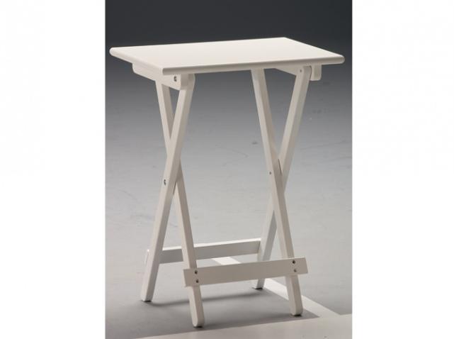 Petite et pliante, cette table dappoint blanche se glissera dans un  ~ Petite Table D Appoint Pliante Bois