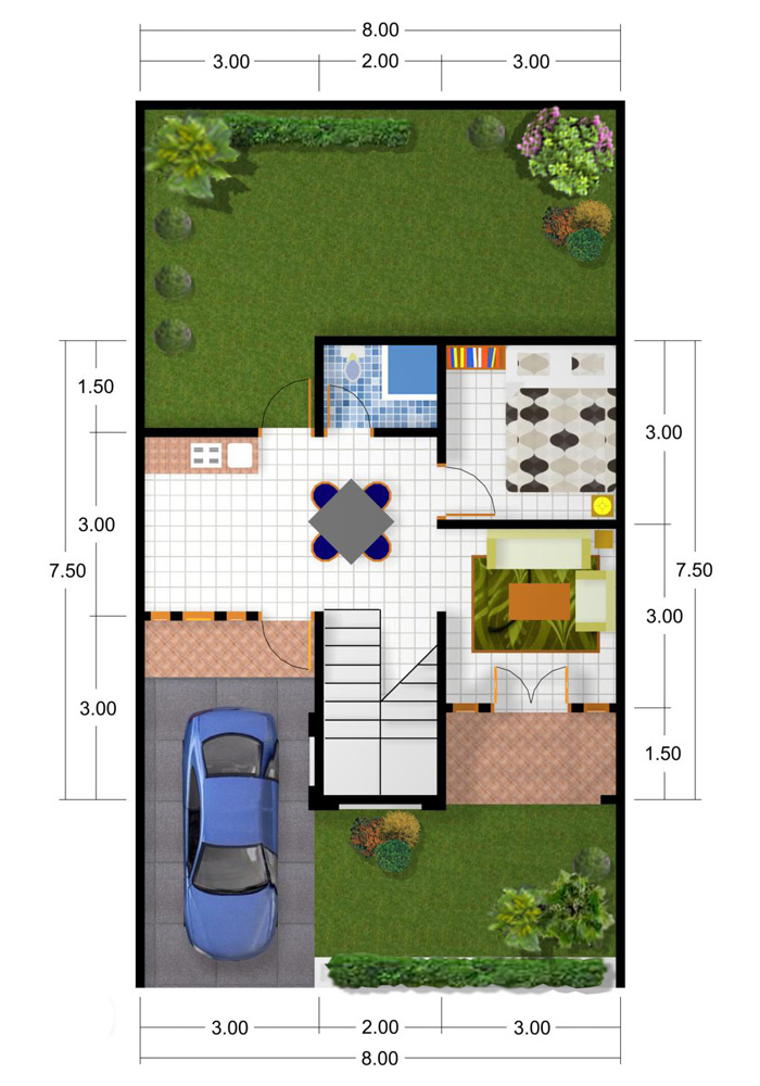Aneka ide Contoh Desain Rumah Minimalis 1 Lantai 2015 yang inspiratif