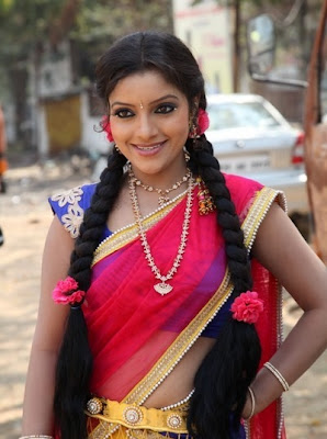 actress hot navel in half saree