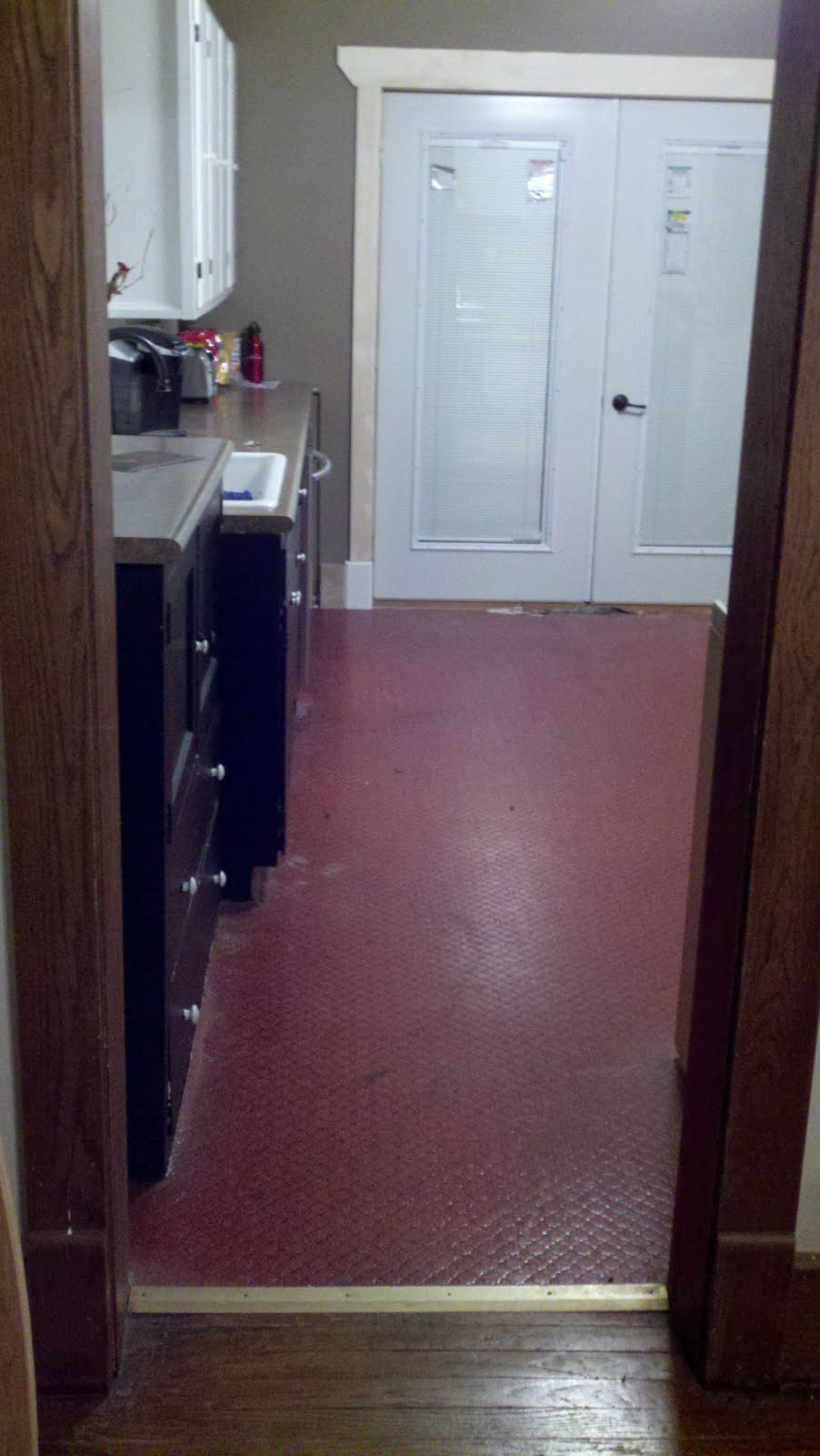I Tried To P It Off As Ecletic And Imaginative But Let S Face A 70 Red Brick Vinyl Floor So Goodbye