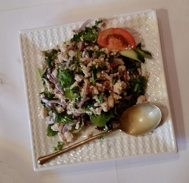 Riversdale Thai, Camberwell, Thai, Thai larb gai, minced chicken salad