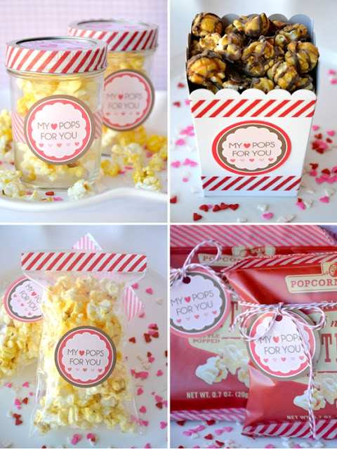 non candy Valentines popcorn Bird's Party