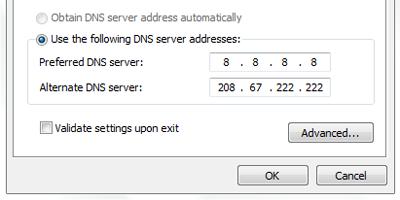 Mengatur DNS Secara Manual