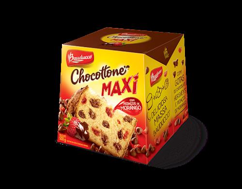 BAUDUCCO LANÇA CHOCOTTONE MAXI COM MORANGO