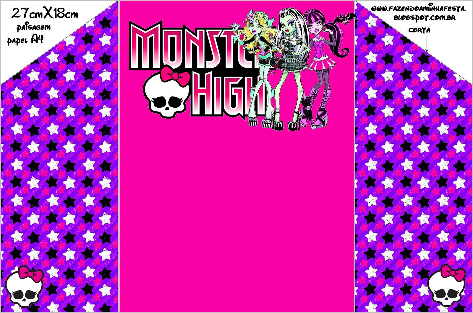 It's just a picture of Remarkable Free Printable Monster High Invitations