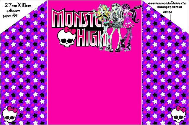 monster high  free printable party invitations