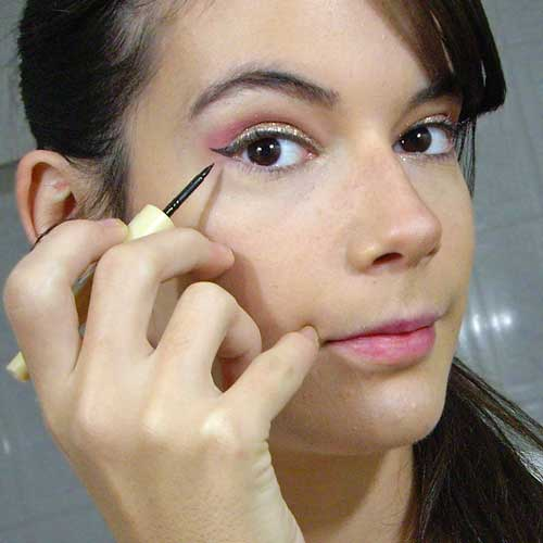 maquillaje de angel para halloween eyeliner monika sanchez