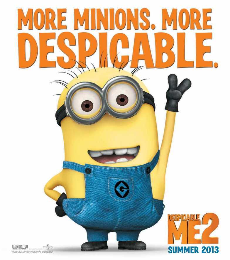 Despicable Me 2 Posters and 'Teaser Trailer'. | Movie-On-Up Despicable Me 2 Minions Poster
