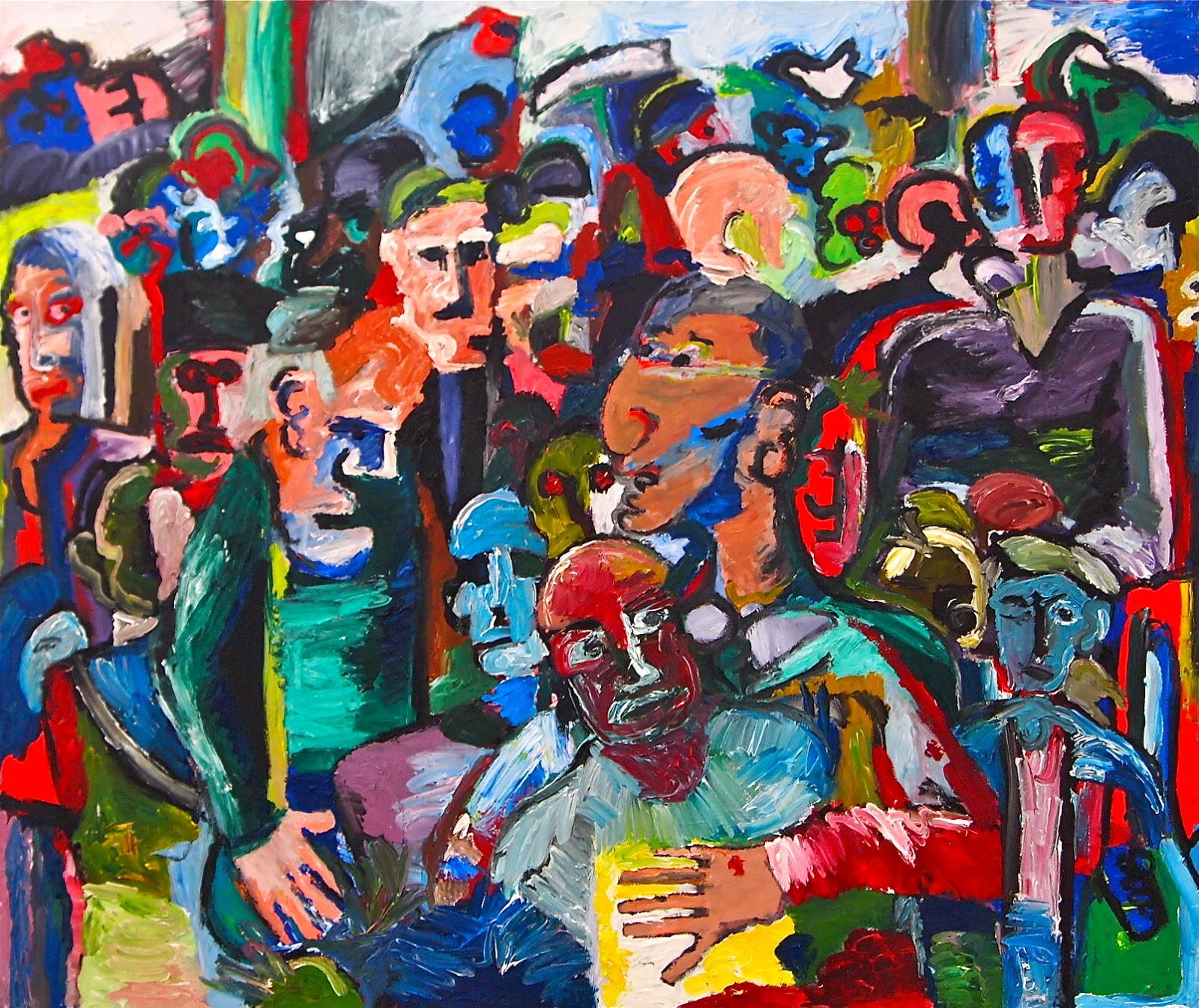 Crowd Scenes Paintings Crowd Scene Ugly Colours
