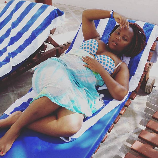 Actress Sofia Of Citizen TV's Machachari Shares Photos Of Her & Her Hubby Having Fun At The Coast!