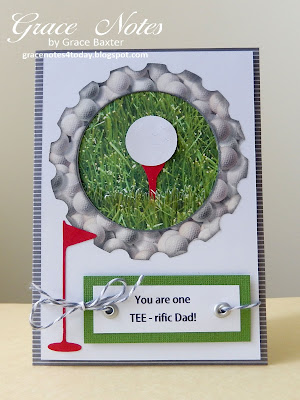 Tee-rific Dad, Father's Day card front, by Grace Baxter