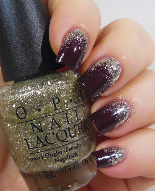 glitter gradient over opi we'll always have paris