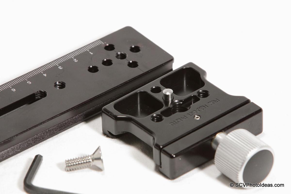 Hejnar Photo E032 Nodal Rail w/ F62a clamp bottom parallel closup 2