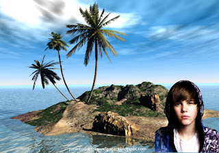 Wallpaper of Justin Bieber photo wallpaper Sad Face in 3D Island wallpaper for the fans