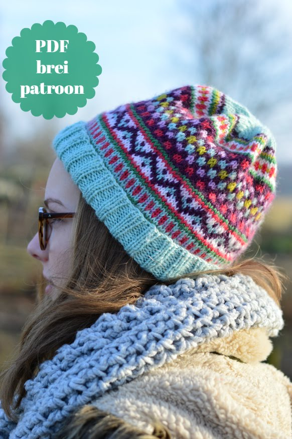 Patroon muts/pattern hat