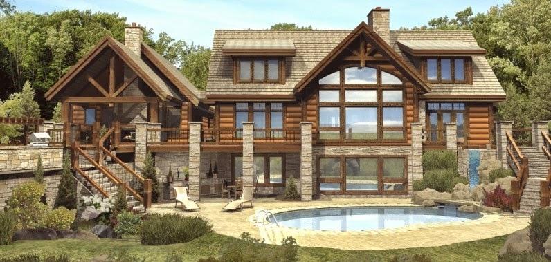 log cabin floor plans - Log Cabin Homes Designs