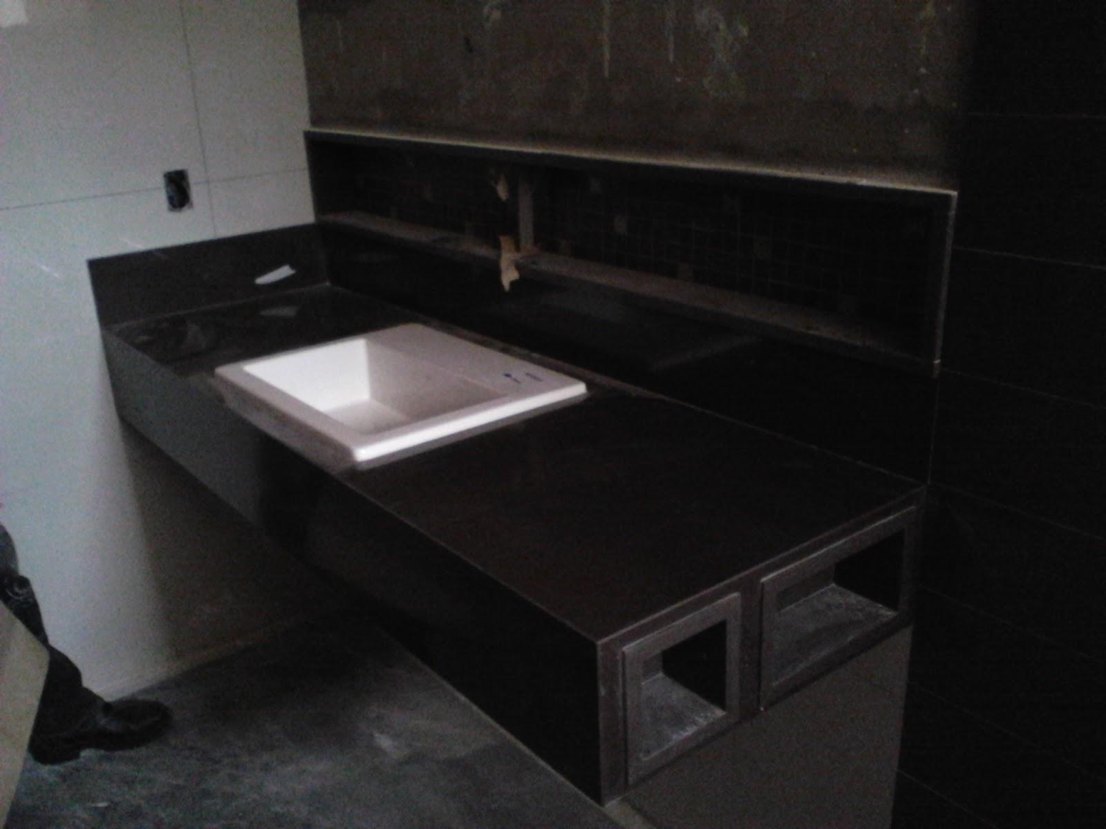 Banheiro Granito Preto São Gabriel #58504A 1600x1200 Bancada De Banheiro Em Granito