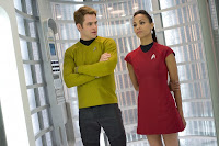 Chris Pine Zoe Saldana Star Trek Into Darkness