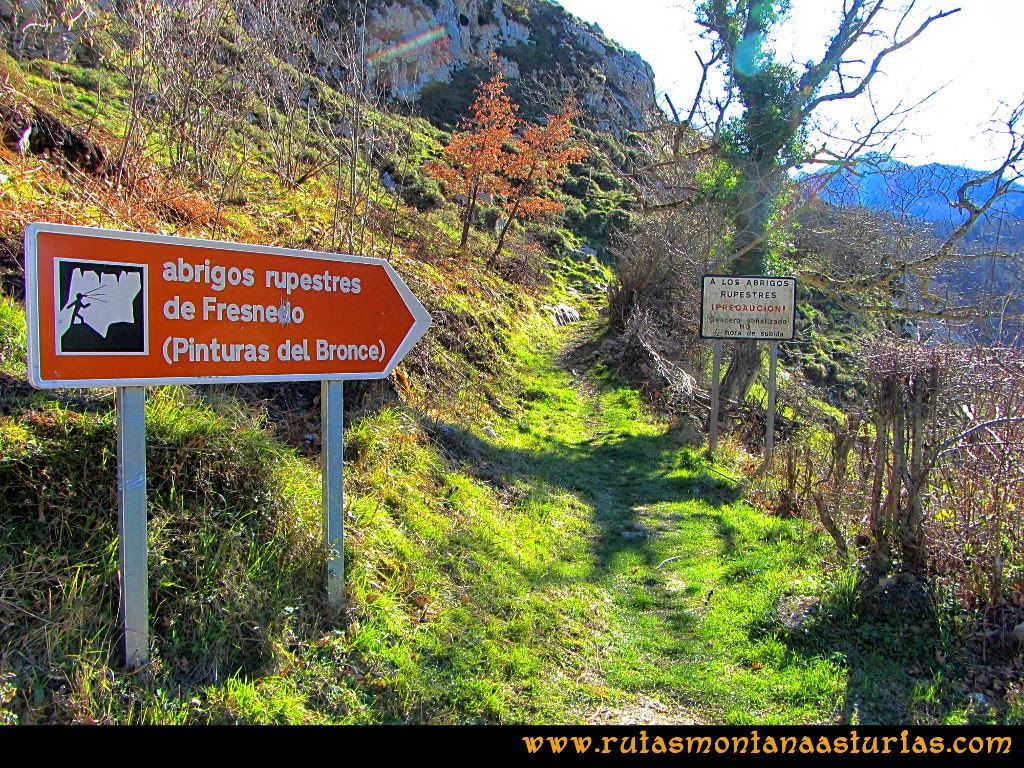 Rutas Montaña Asturias: Inicio de la Ruta de las Pinturas Rupestres de Fresnedo