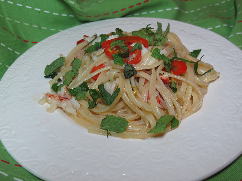 Christy Majors – Linguine with Lobster, Lemon, Chile and Mint