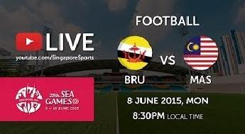 siaran langsung Malaysia Vs Brunei 8 Jun 2015 Sukan SEA