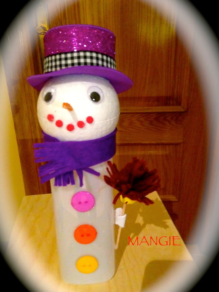 Porta chuches muñeco de nieve