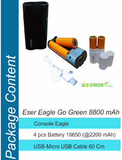 Power Bank Eser Eagle Go-green 8800 mAh