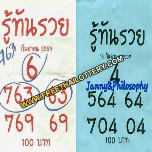 THAI LOTTERY SINGLE AND DIRECT 16-09-2014