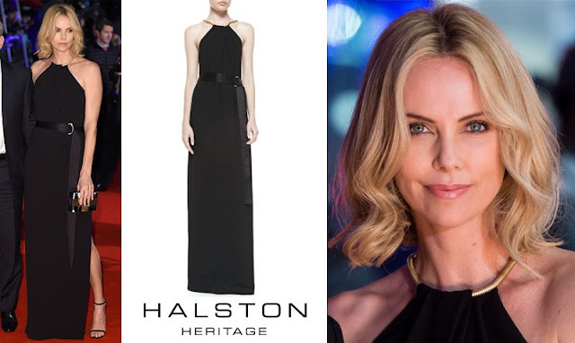 Charlize these days appears to be forgoing her usual favourites – Givenchy, Alexander McQueen and Dior for other brands, yet she's still sticking to trusted black