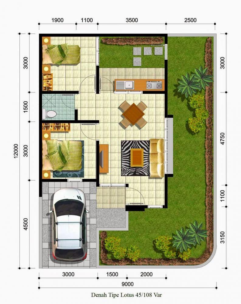 Denah Rumah Hook Minimalis 1 Lantai Desain Rumah Minimalis