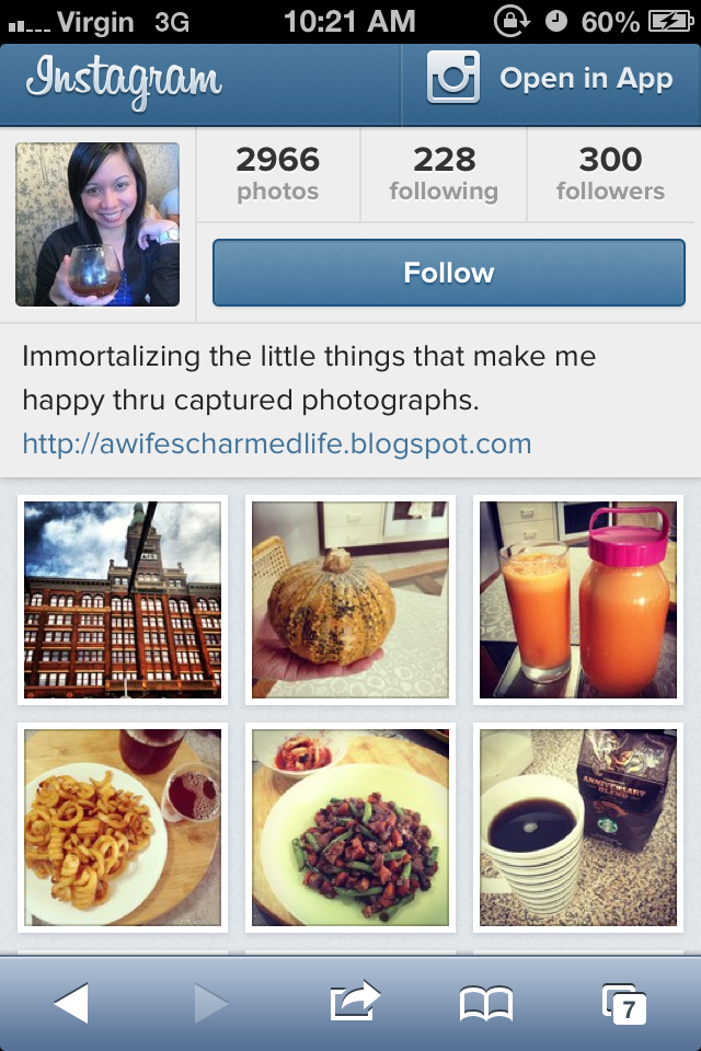 Instagram account as it s not all the time that i share my instagram