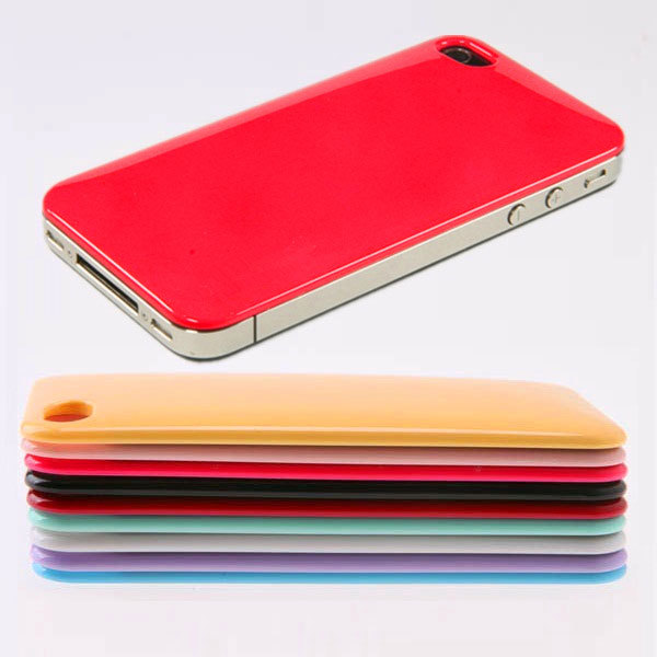 Smooth Ultra-thin Ultra-light Back Skin Case for iPhone 4 4S Multi-Color