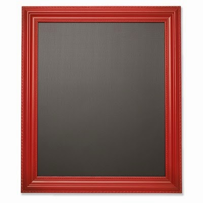 Designed Décor Red Magnetic Chalkboard