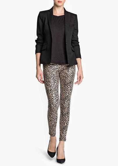 Pantalon print animal look fiesta