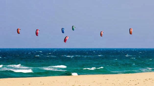 Kite surfing i Kap Verde