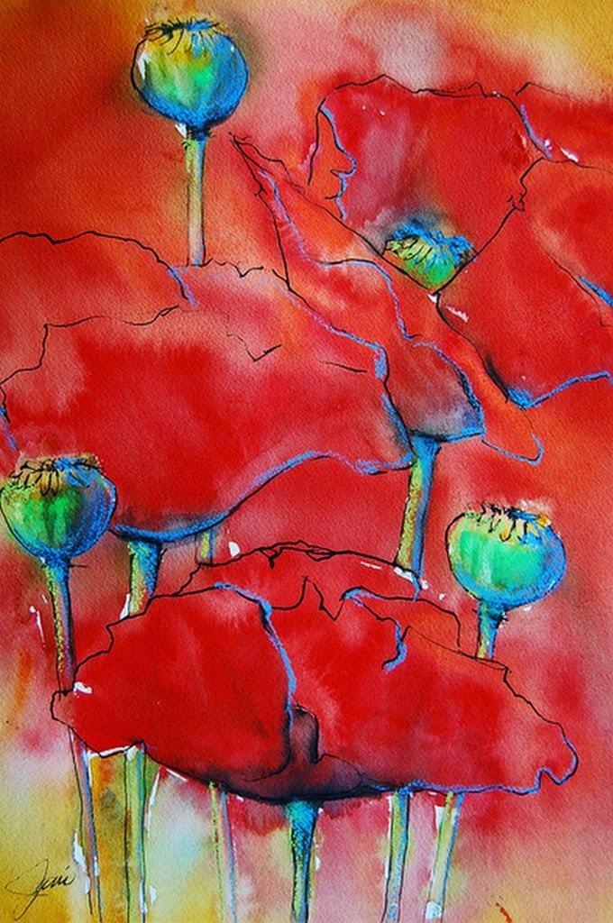 cuadros-de-flores-modernas-pintadas-en-acuarela