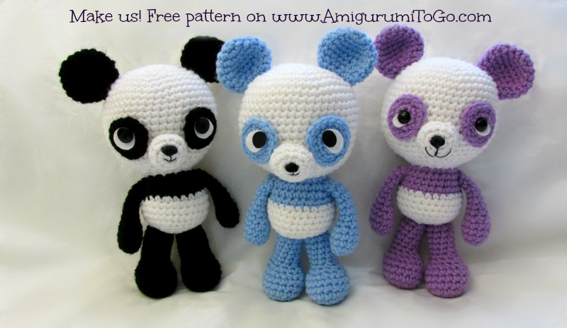 Amigurumi To Go Free Patterns : Panda Amigurumi Free Pattern ~ Amigurumi To Go