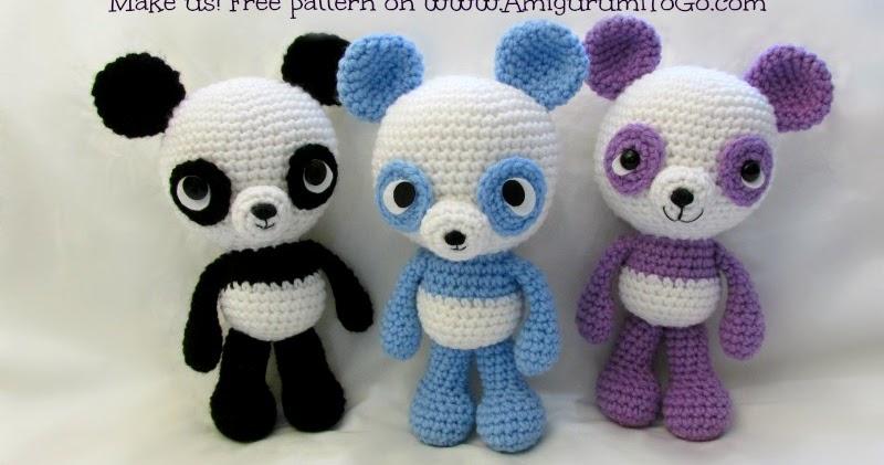 Amigurumitogo Little Bigfoot Monkey : Panda Amigurumi Free Pattern ~ Amigurumi To Go