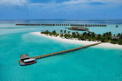 Maldives is a romantic honeymoon destination
