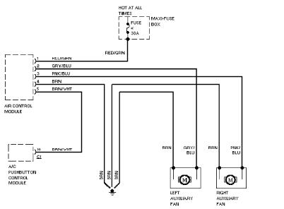 Radiator Cooling Fan Wiring Diagram For 2007 Mercedes C230 on dodge neon fan relay location