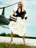 Kate Upton in a white skirt