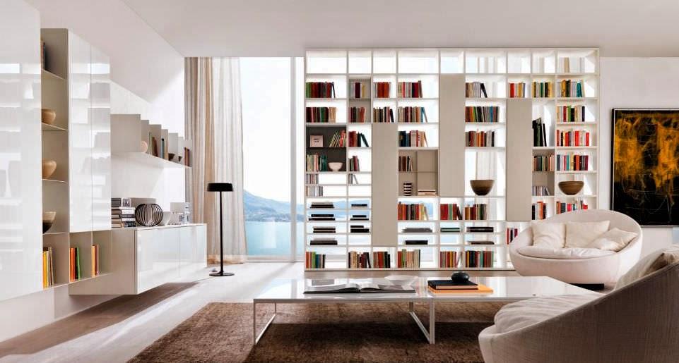projet maison: bibliothèque double face