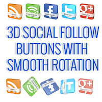 3d Social Follow buttons