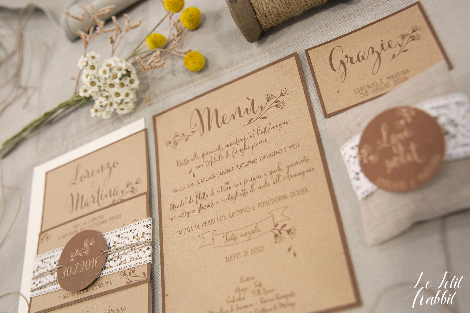 Menu Matrimonio Rustico : Wedding suite lace rustico chic le petit rabbit